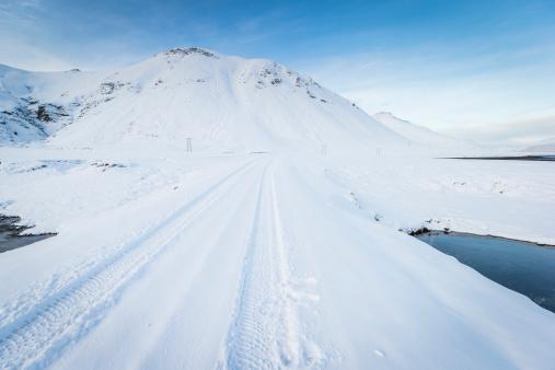 Lava「Fresh tire tracks in the snow, Iceland」:スマホ壁紙(18)
