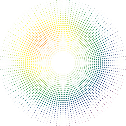 Vector「Illustrated rainbow sun made out of a circular design radiating out」:スマホ壁紙(17)
