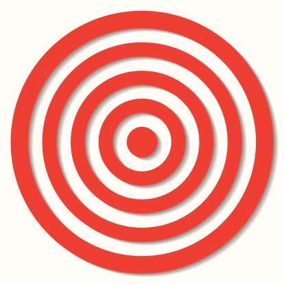 Sports Target「Illustrated archery target icon with colored bands and outline」:スマホ壁紙(8)