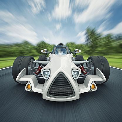 Hot Rod Car「race car on the road」:スマホ壁紙(2)
