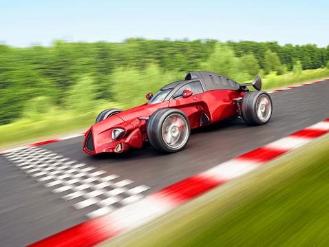 Hot Rod Car「race car on finish」:スマホ壁紙(11)