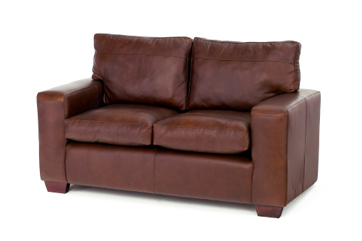 Armchair「Brown settee isolated on white」:スマホ壁紙(3)