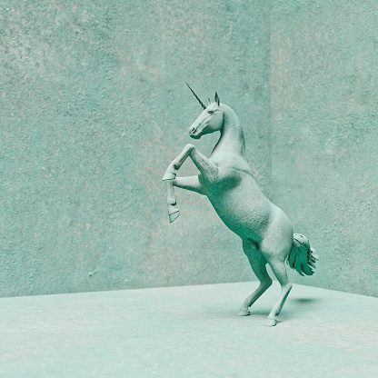 Horse「Unicorn stone statue rearing up on hind legs」:スマホ壁紙(1)