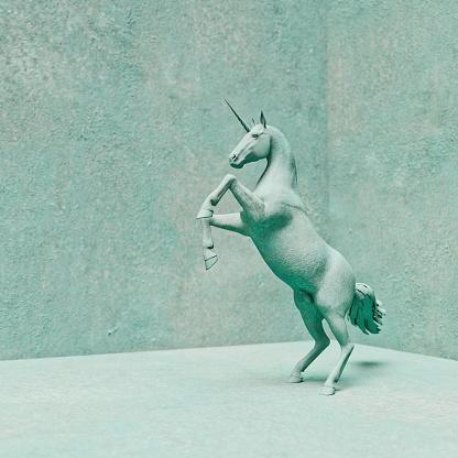 Horse「Unicorn stone statue rearing up on hind legs」:スマホ壁紙(16)