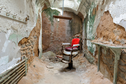 Pennsylvania「Barber Chair in Empty Prison Cell Ruins, Eastern State Penitentiary」:スマホ壁紙(13)