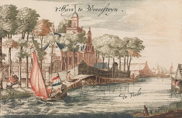 Water's Edge「T Huys Weeresteyn By The River Vecht In: Tooneel Der Voornaamste Nederlands Huizen」:写真・画像(1)[壁紙.com]