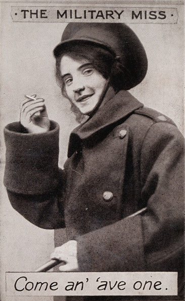 Cigarette「The Military Miss - Come an ave one., c1914」:写真・画像(1)[壁紙.com]