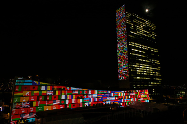 United Nations Building「Global Goals Projected Onto United Nations Building」:写真・画像(5)[壁紙.com]