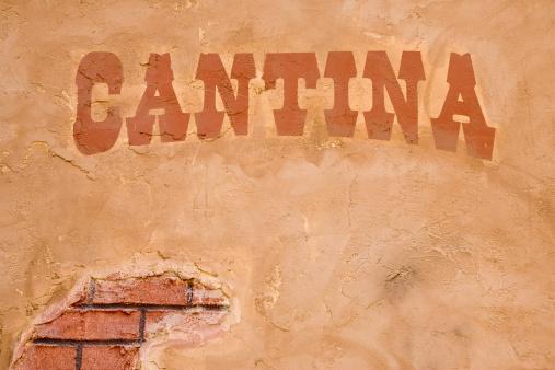 Brick Wall「Cantina Sign Outside Bar, Brick Stucco Wall, Rustic, Cinco-de-Mayo」:スマホ壁紙(11)