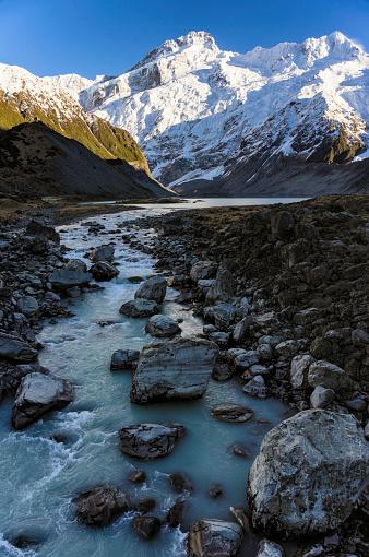 Mt Cook「Mueller Lake And Hooker River In New Zealand's Mt Cook National Park」:スマホ壁紙(7)