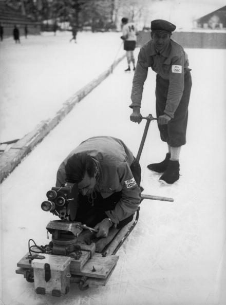 Garmisch-Partenkirchen「Special Construction for filmcameras. Constructed espesially for the olympic wintergames in Garmisch to get better recordings of the competitions. Photograph. 1936  (Photo by Austrian Archives (S)/Imagno/Getty Images)」:写真・画像(15)[壁紙.com]