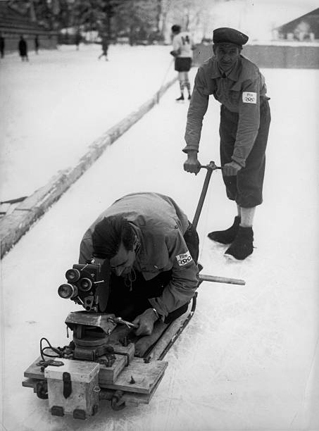 Special Construction for filmcameras. Constructed espesially for the olympic wintergames in Garmisch to get better recordings of the competitions. Photograph. 1936  (Photo by Austrian Archives (S)/Imagno/Getty Images):ニュース(壁紙.com)