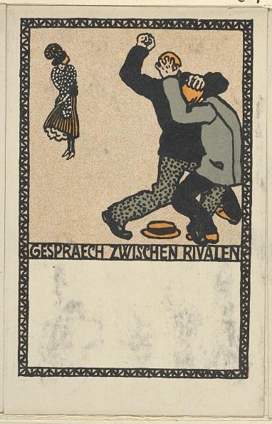 Chromolithograph「Conversation Between Rivals (Gespraech Zwischen Rivalen)」:写真・画像(17)[壁紙.com]