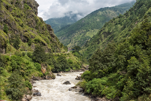 Himalayas「River in the lush valley in southern Himalayas」:スマホ壁紙(6)