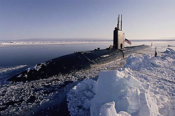 USS Hampton submarine at North Pole:スマホ壁紙(壁紙.com)