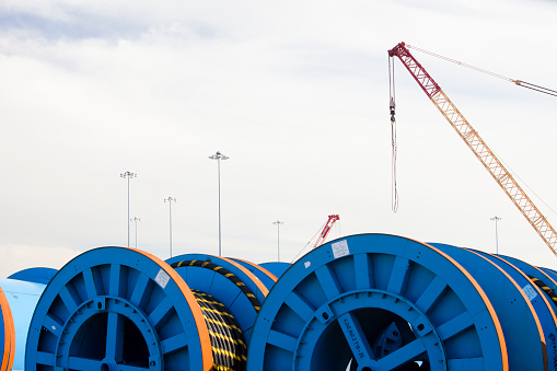 Cable「Undersea electric cabling on the dockside in Barrow in Furness, Cumbria, UK.」:スマホ壁紙(11)