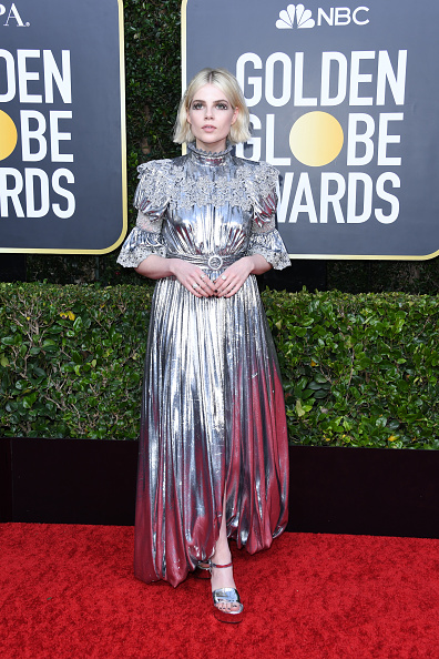 銀色のドレス「77th Annual Golden Globe Awards - Arrivals」:写真・画像(1)[壁紙.com]