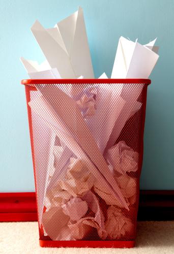 Effort「Bin full of screwed up paper and paper aeroplanes」:スマホ壁紙(11)