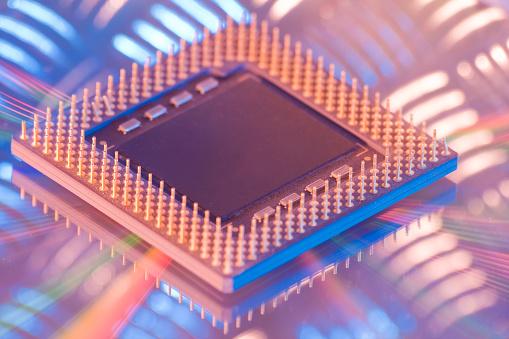 CPU「CPU central processing unit close-up on metal surface」:スマホ壁紙(4)
