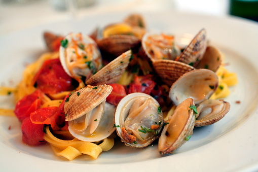 Clam - Seafood「Fettuccine with Clams」:スマホ壁紙(18)