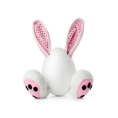 Baby Rabbit「Easter Plush Bunny - humor fun rabbit egg」:スマホ壁紙(1)