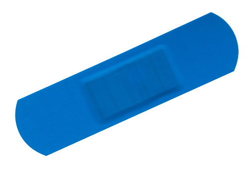 Adhesive Bandage「Blue waterproof bandage with clipping path」:スマホ壁紙(14)