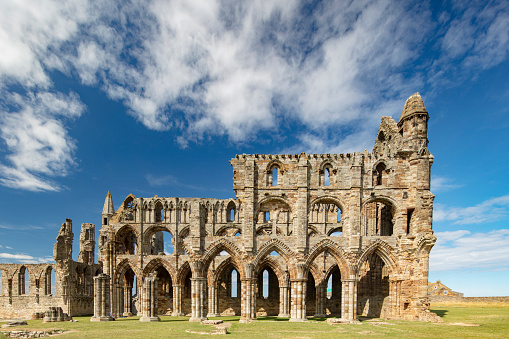 Benedictine「Whitby Abbey ruins - destroyed during the Dissolution of the Monasteries in 16th century, Whitby, England, 2018」:スマホ壁紙(13)