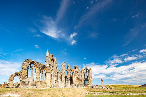 Abbey - Monastery「Whitby Abbey ruins - destroyed during the Dissolution of the Monasteries in 16th century, Whitby, England, 2018」:スマホ壁紙(14)