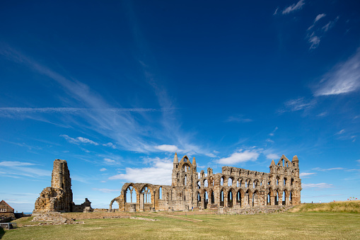 Benedictine「Whitby Abbey ruins - destroyed during the Dissolution of the Monasteries in 16th century, Whitby, England, 2018」:スマホ壁紙(3)