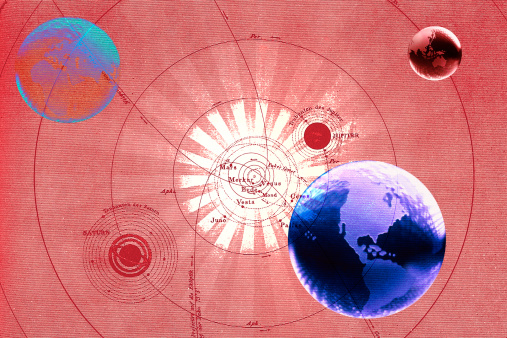 Solar System「Globes with map of universe」:スマホ壁紙(13)