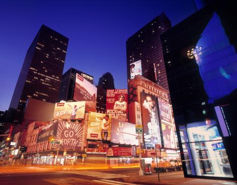 Light Trail「Billboards at Times Square, New York」:スマホ壁紙(11)