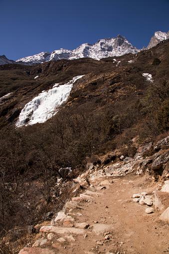 Khumbu「Frozen waterfall near Dhole at the start of spring, Everest Base Camp Trek, Nepal」:スマホ壁紙(8)