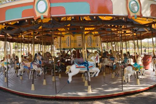 Carousel Horses「Zebra and carousel horses at Smithsonian Shopping Mall, Washington DC, USA」:スマホ壁紙(16)