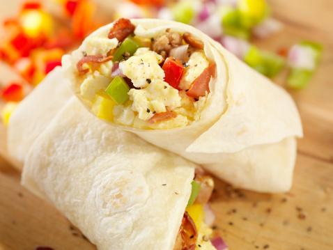 Tortilla - Flatbread「Breakfast Burrito with Scrambled Eggs」:スマホ壁紙(7)