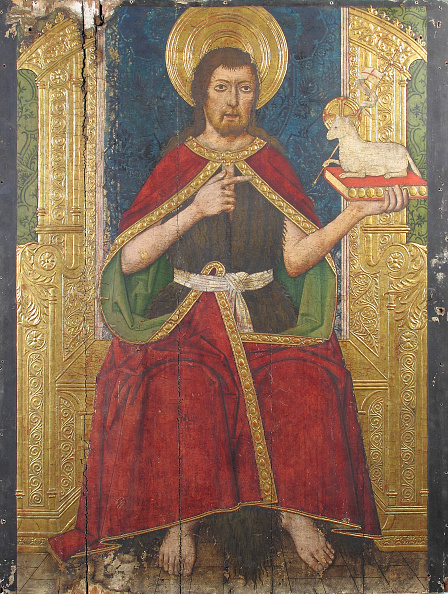 Gold Leaf「Panel With Saint John The Baptist Enthroned From Retable」:写真・画像(9)[壁紙.com]