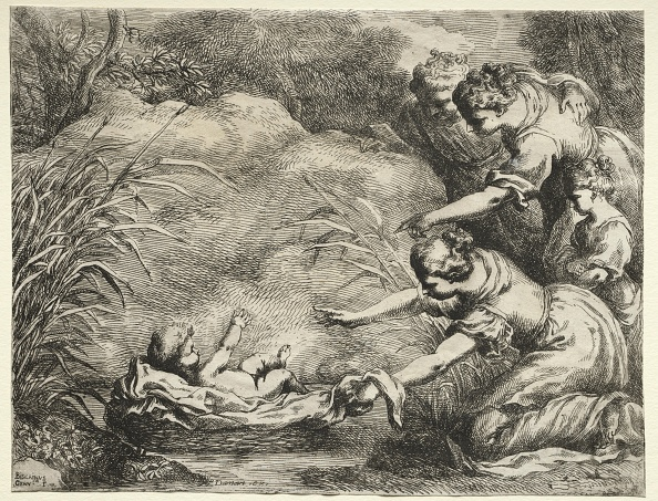 Etching「Moses Saved From The Nile. Creator: Bartolomeo Biscaino (Italian」:写真・画像(11)[壁紙.com]