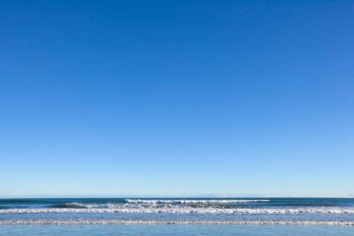 Westland - South Island New Zealand「Waves breaking on beach」:スマホ壁紙(16)