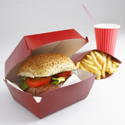 Fast Food French Fries「Takeaway burger, fries and soda」:スマホ壁紙(14)