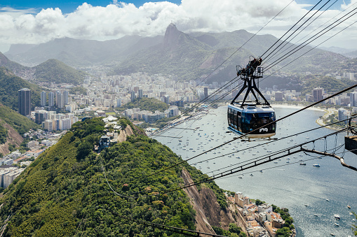 Overhead Cable Car「Ropeway car (Bondinho), Morro da Urca and Botafogo」:スマホ壁紙(13)