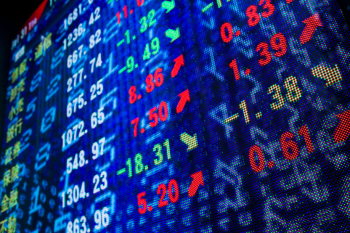 Information Medium「Reflection of stock readings in window」:スマホ壁紙(19)