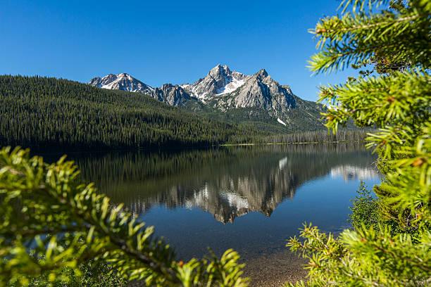 Reflection of mountain in still lake:スマホ壁紙(壁紙.com)