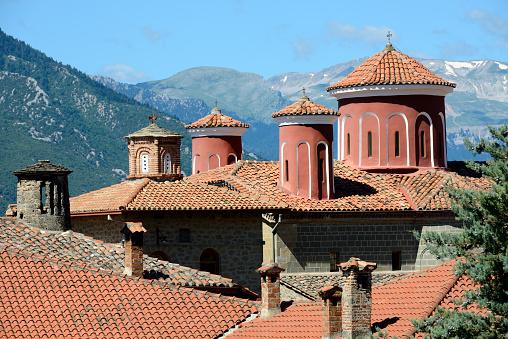 Trikkala「Greece, Thessaly, Meteora, World Heritage Site, Agios Stefanos (St Stephen) monastery」:スマホ壁紙(3)
