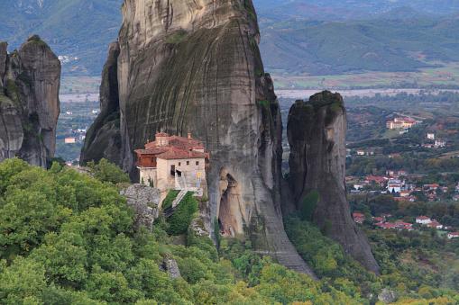 Roussanou Monastery「Greece, Thessaly, Meteora」:スマホ壁紙(18)