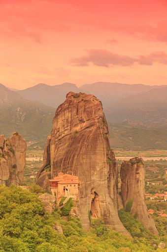 Roussanou Monastery「Greece, Thessaly, Meteora」:スマホ壁紙(10)
