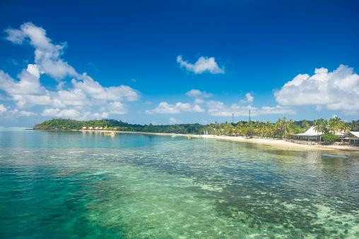 Mamanuca Islands「Fiji, Mamanuca islands, Mana island, beach」:スマホ壁紙(12)