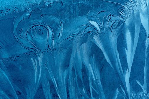 Frost「blue ice flower background」:スマホ壁紙(3)