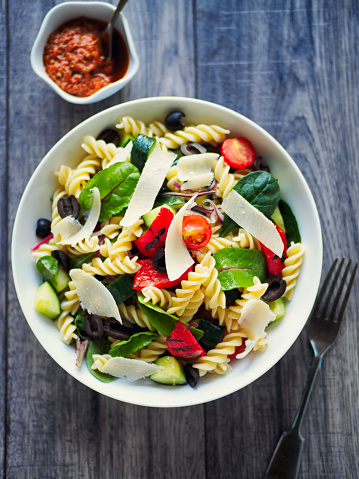 Vegetable「Healthy pasta salad」:スマホ壁紙(18)