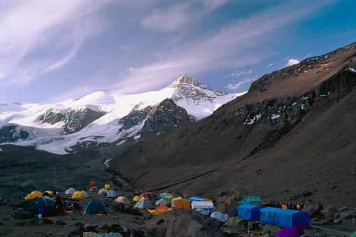 Mount Aconcagua「Mountain Climbing Base Camp on Aconcagua in Argentina」:スマホ壁紙(4)