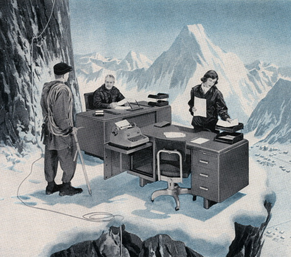 Corporate Business「Office On Icy Mountain Ledge」:写真・画像(6)[壁紙.com]