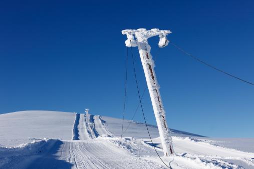 スキーストック「Austria, Styria, Ski lift at Lawinenstein Mountain」:スマホ壁紙(4)